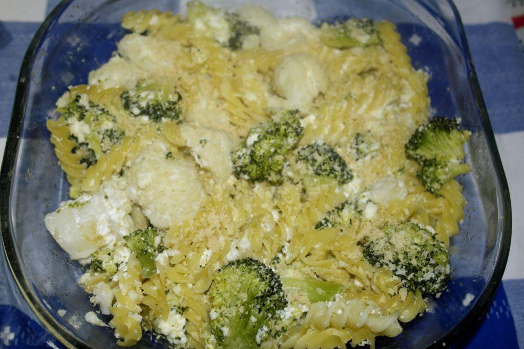 retete sanatoase pentru copii paste la cuptor cu broccoli si conopida diverisificare bebelusi