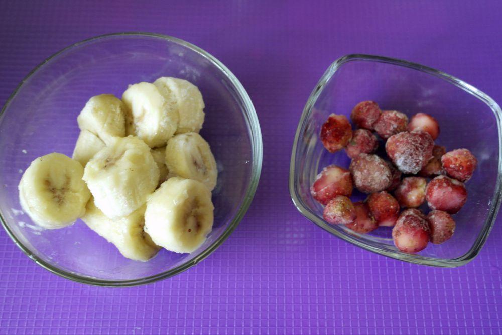 retete de inghetata, diversificare, inghetata cu banane si capsuni