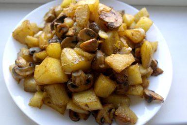 retete cu ciuperci pentru copii, retete pentru copii, cartofi noi la cuptor, cartofi la cuptor cu ciuperci