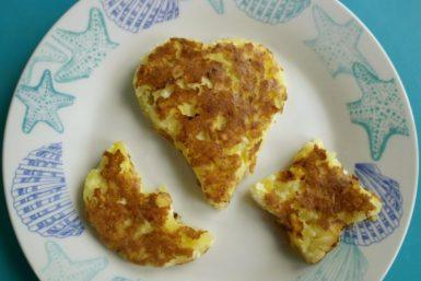 clatite cu cartofi, budinca de cartofi, retete biscuim, diversificare, retete rapide pentru copii
